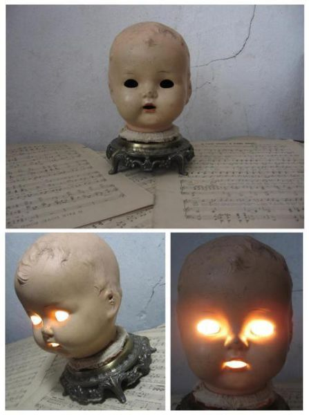 Фотоприкол фото голова, младенец, светильник, страшно