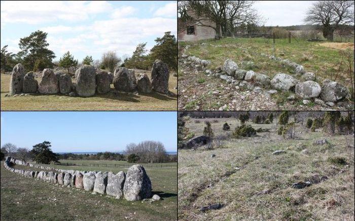 монумент, камень, корабли, бронзовый век