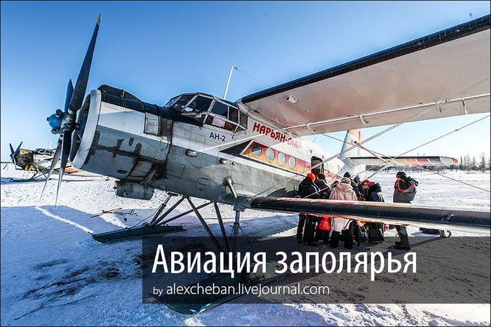 полярный круг, самолет, кукурузник, путешествие, зима, снег