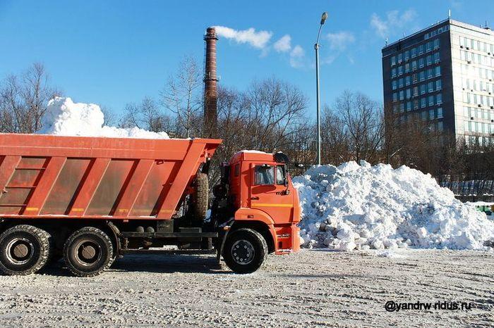 зима, снег, снегоуборочная машина, улицы