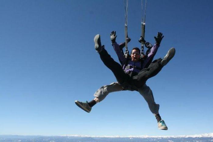 Фотка выражение лица, показалось, прыжок с парашютом