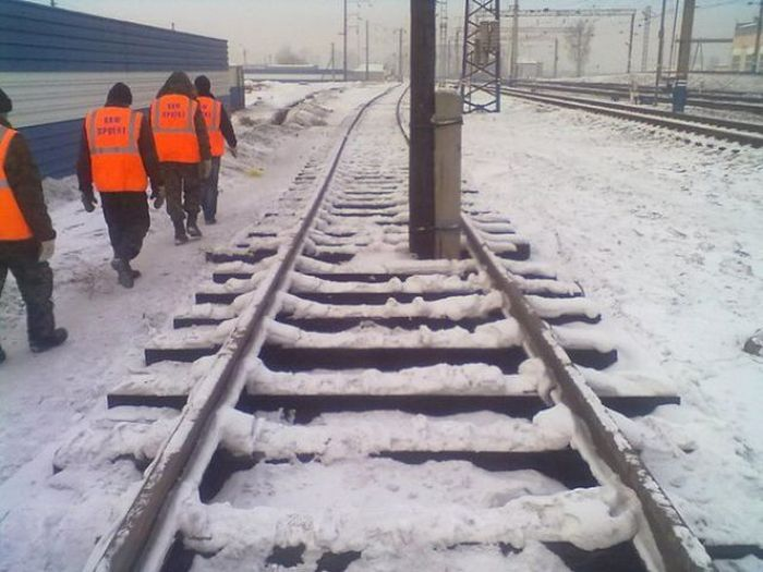 Красивые фото железная дорога, прикол, россия, столб