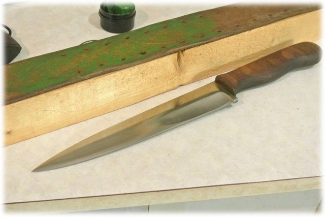 нож, повар, блюдо