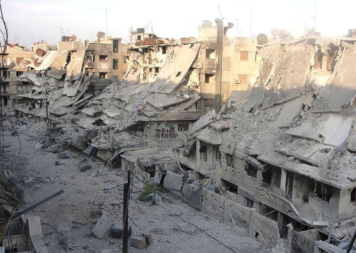 сирия, война, города, разрушение, руины