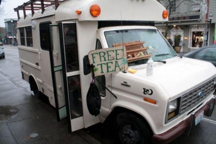 чайный автобус, автобус, чай