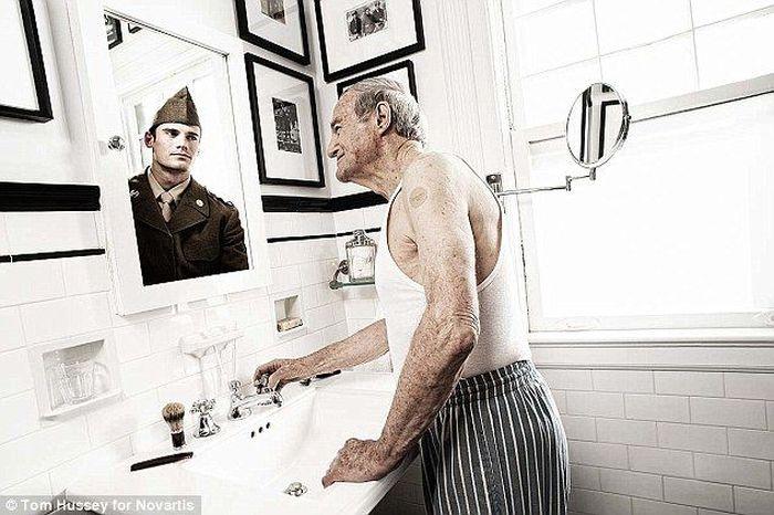 принты, люди, молодость, зеркало