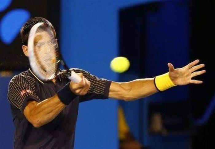 Пикантный фотоприкол выражение лица, ракетка, теннисист
