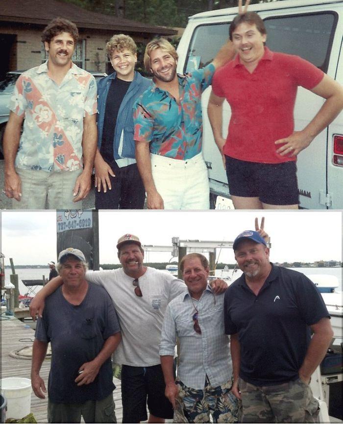 Фотоприкол фото друзья, мужики, тогда и сейчас