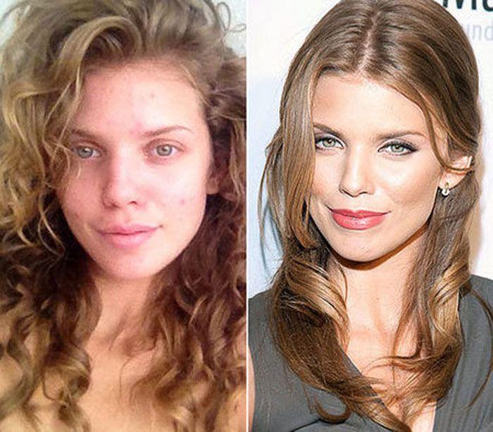 Макияжем и без макияжа русские фото