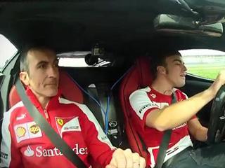 Fernando Alonso за рулем LaFerrari