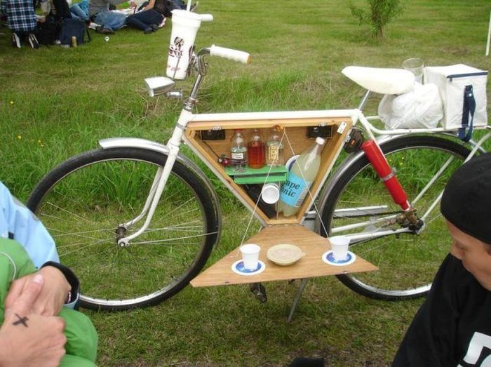 Прикол картинка велосипед, круто, пикник, ящик