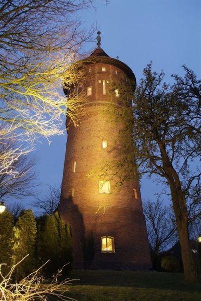 водонапорная башня, дом