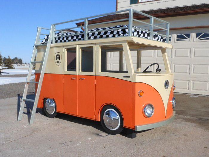 авто, кровать, volkswagen t1
