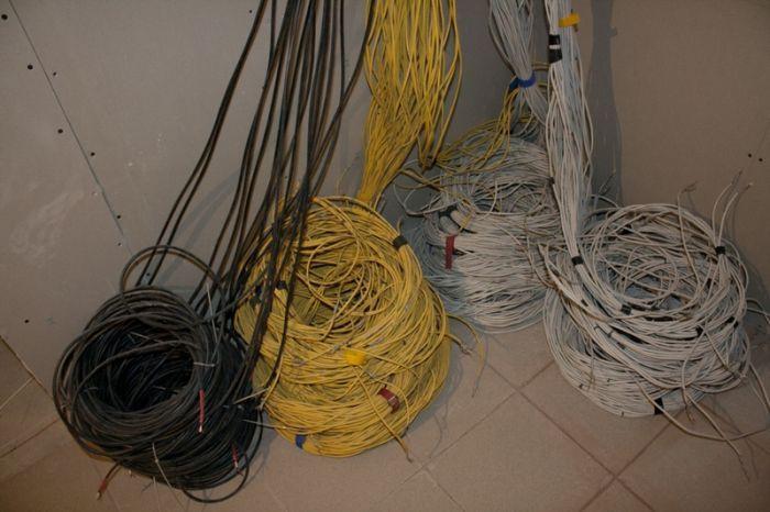 работа, укладчик, кабель