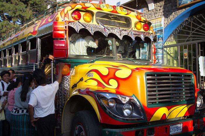 авто, автобус, автобусы, чикенбас, латинская америка