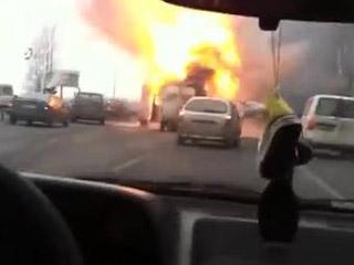 Взрыв фургона