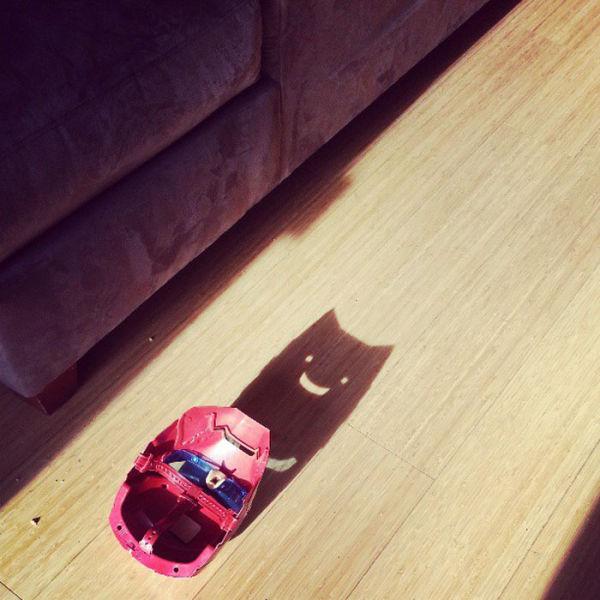 Фото кот, маска, прикол, тень