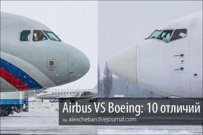 самолет, боинг, аэробус, сравнение