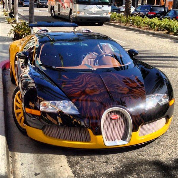 Смешной фотоприкол bugatti, аэрография, красиво, рисунок на авто