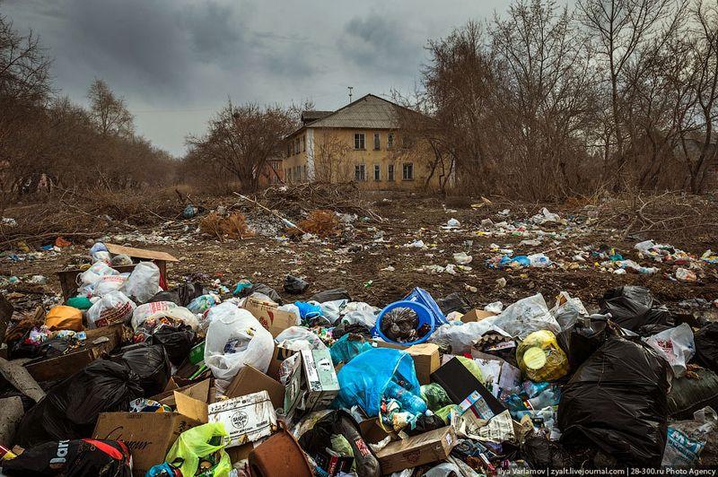 омск. грязь, мусор