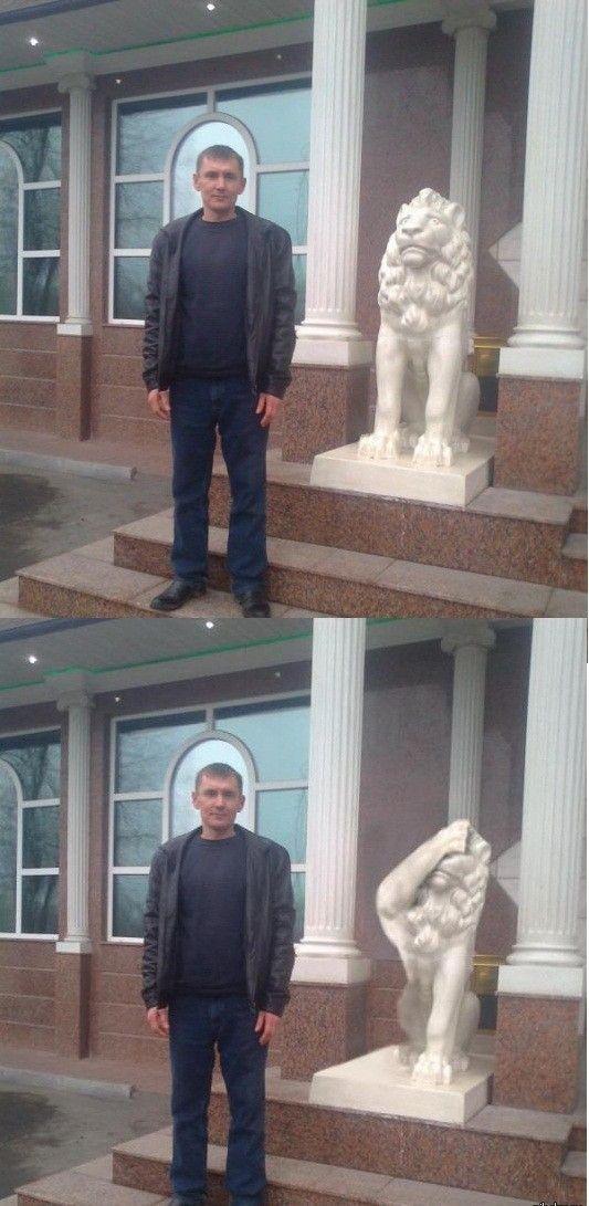 Фотка скульптура, смешная фотография, статуя