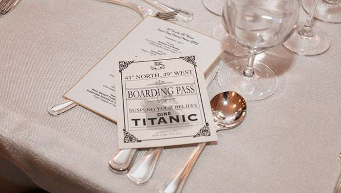 еда, ужин, титаник, блюдо, айсберг, крушение, пассажиры