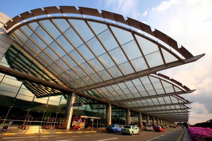 аэропорт, гостиница, бассейн, самолет, бабочки
