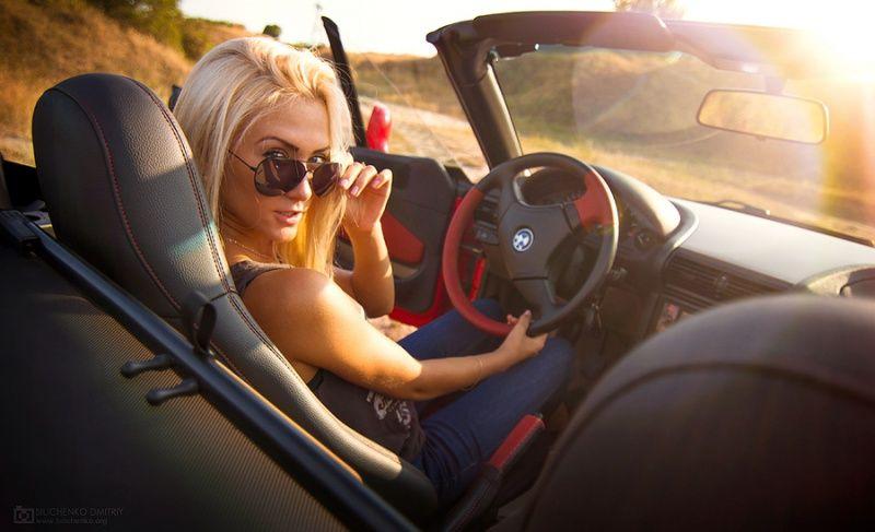 авто, девушки, девочки и машина, фотоподборка
