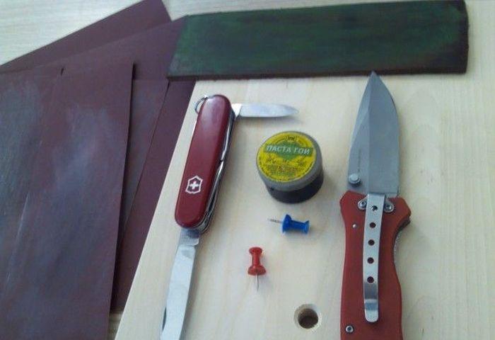 нож, заточка, апельсин, бумага