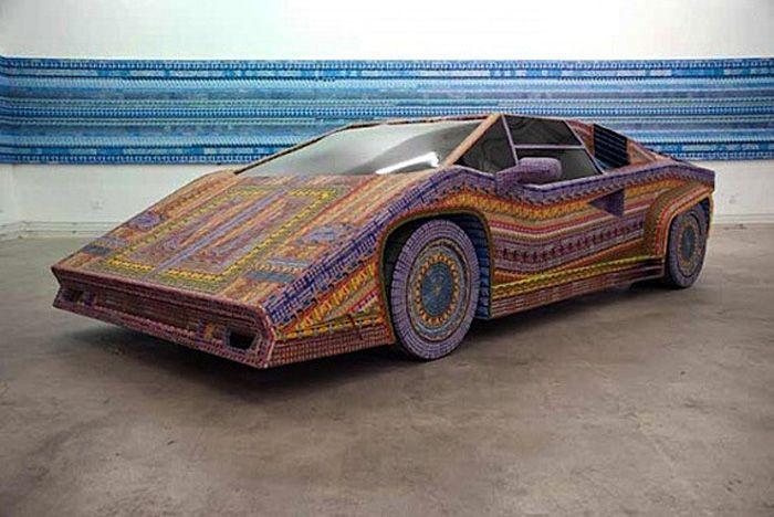 авто, лотерейный билет, скульптура авто,