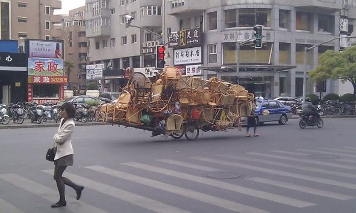 Фанни фото велосипед, груз, прикол, транспортировка