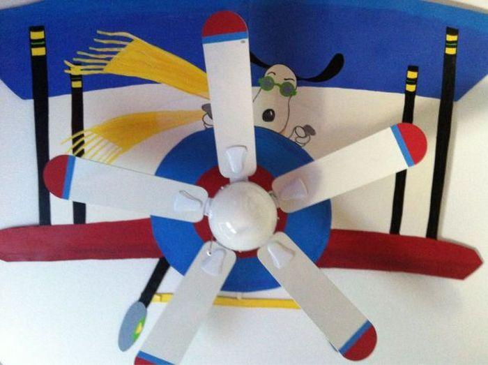 Зачетное фото вентилятор, люстра, рисунок на потолке
