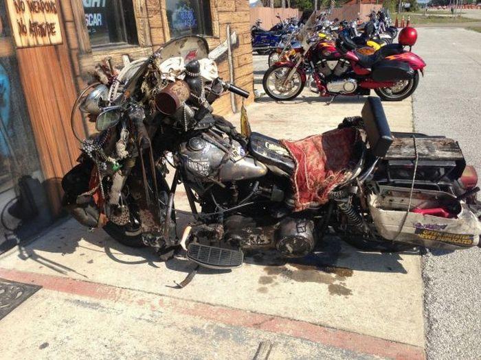 Свежий фотоприкол байк, мотоцикл, прикол, развалюха