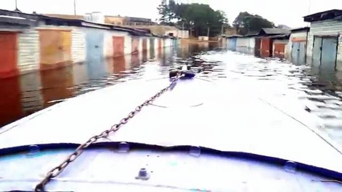 авто, тверская область, паводок, затопило гараж,