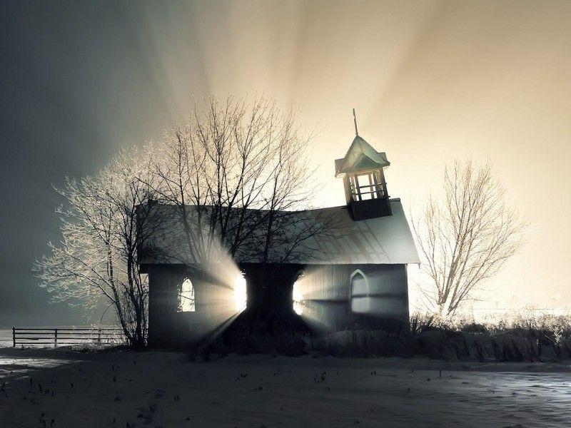 Зачетное фото красивая фотография, просвечивает, тень, часовня