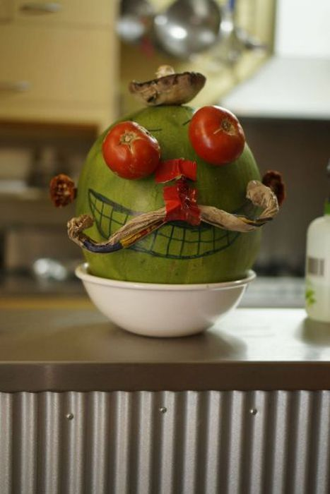 Фотка лицо, овощи, рожица