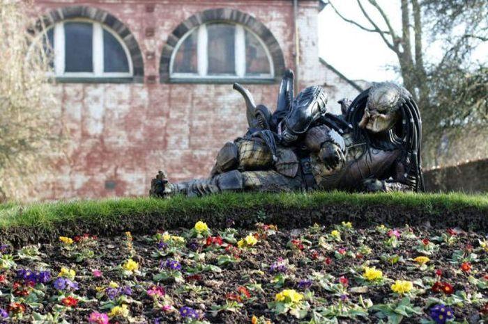 Бугагашеньки крутое фото, скульптура, хищник, чужой