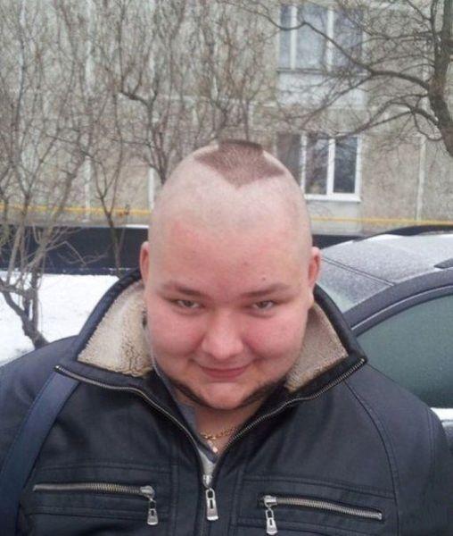 Шикарное фото выбрил, парень, прикол, прическа
