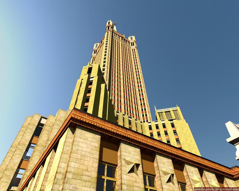 небоскреб, кремль, зарядье, мокринский переулок, псковский переулок, храм, чечулин