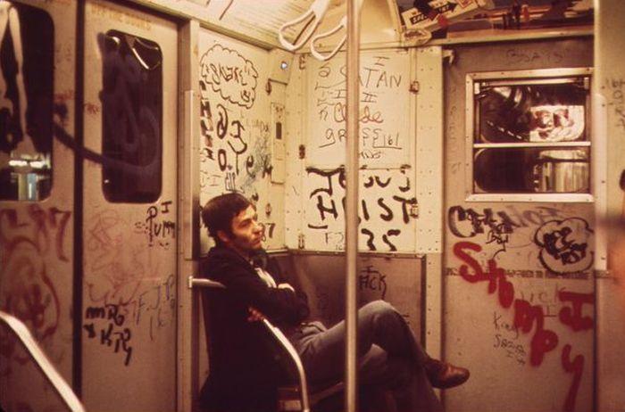 метро, подземка, нью йорк, 40 лет назад,