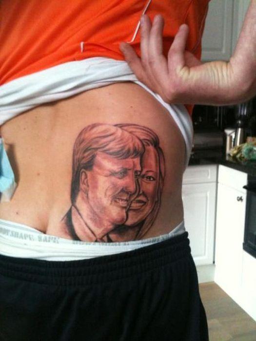 Фотоальбом жесть, лицо, на спине, татуировка