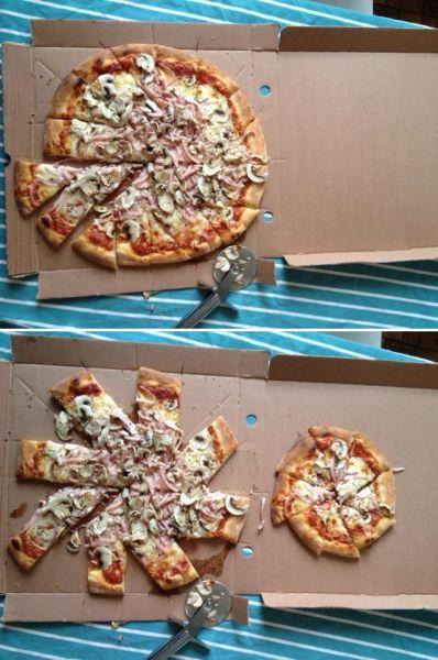 Фотоприкол круто, кусочки, пицца, порезал