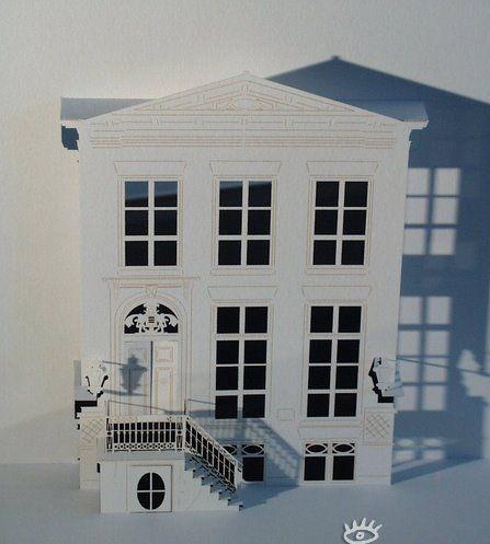 Объемные здания из бумаги (26