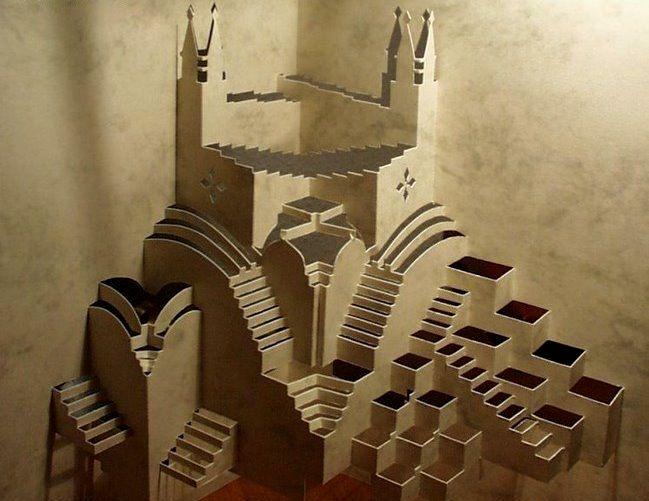 Объемные здания из бумаги (26 фото)