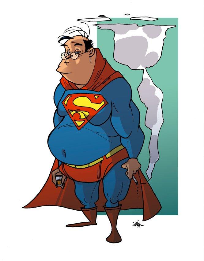 Смешной супергерой картинка
