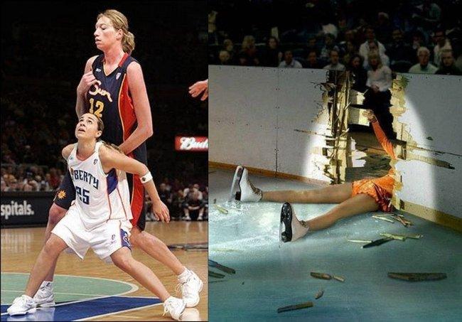 упсы женщин в спорте