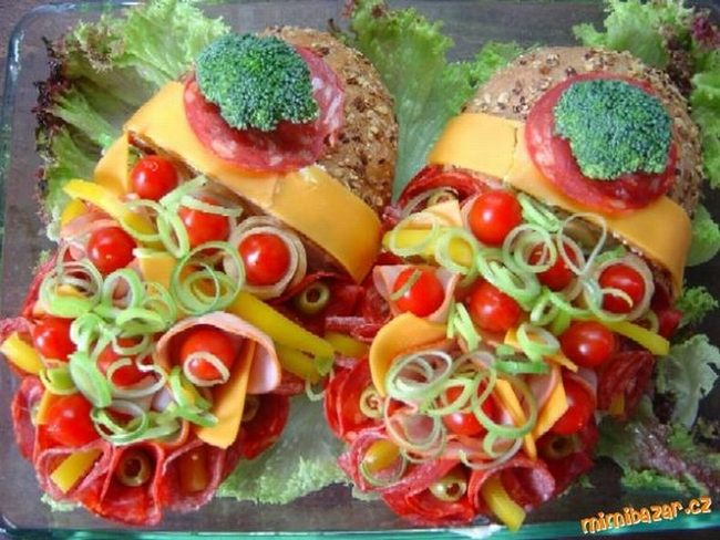 Бутерброды из Чехии (4 фото)