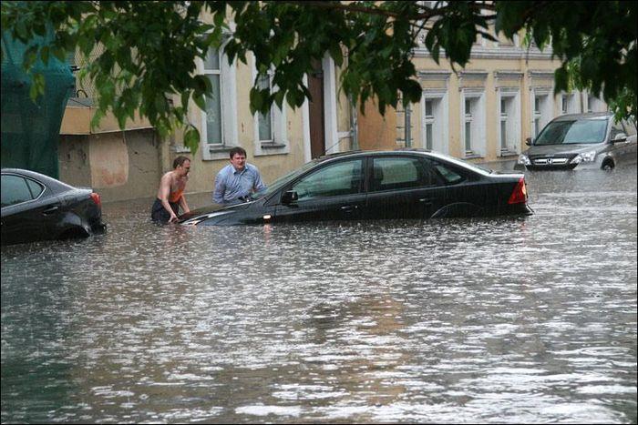 Потоп в Москве (14 фото)