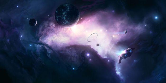 Великолепные рисунки космоса (40 фото)