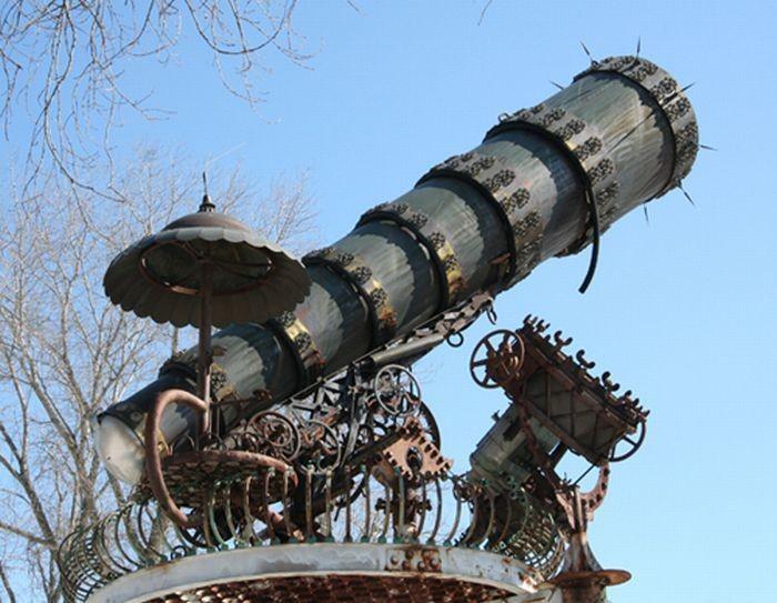 Большие стимпанковские скульптуры (23 фото)